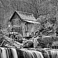 Glade Creek In Black And White by Adam Jewell