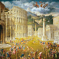 Gladiators Fighting by Paris Bordone