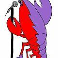 Glam Rock Lobster Or Harleguin Lobster by Julie Knapp