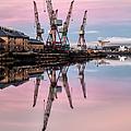 Glasgow Cranes With Belt Of Venus by John Farnan