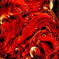 Glass Macro Abstract Crimson Swirls by David Patterson
