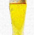 Glass Of Beer Painting by Magomed Magomedagaev
