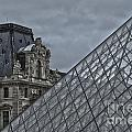 Glass Pyramid And Louvre Museum Paris by Philip Pound