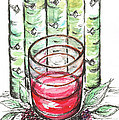 Glass Rosy Wine by Teresa White