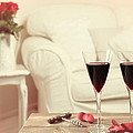 Glasses Of Red Wine by Amanda Elwell