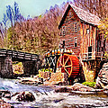 Glen Creek Grist Mill Painting by Bob and Nadine Johnston
