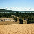 Glen Lake From The Dune Climb by Michelle Calkins