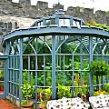 Glenveagh Garden Gazebo - Irish Art by Charlie Brock