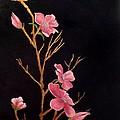 Glistening Blossoms by Carol Avants