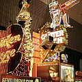 Glitter Gulch In Las Vegas by Gerry High