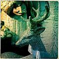 Glittered Deer by Jen  Brooks Art