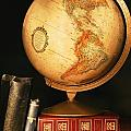 Globe And Books by Don Hammond
