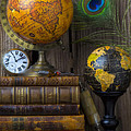 Globes And Old Books by Garry Gay