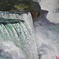 Gloomy Day At Niagara Falls by Ylli Haruni