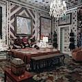 Gloria Vanderbilt's Bedroom by Horst P. Horst