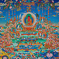 Glorious Sukhavati Realm Of Buddha Amitabha by Art School