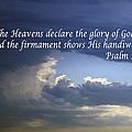 Glory To God   Psalm 10 1 by Barb Dalton