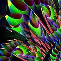Glow In The Dark Abstract by Maria Urso