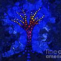 Glow Tree Blue by Pixel Chimp