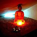 Glowing Buddha by Linda Prewer
