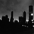 Glowing Chicago Sunset by Verana Stark