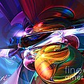 Glowing Life Abstract by Alexander Butler