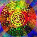 Glowing Mandala by Ally  White