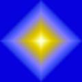 Glowing Star On Blue by Karen Nicholson