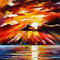 Glowing Sun by Leonid Afremov