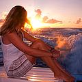 Glowing Sunrise. Greeting New Day  by Jenny Rainbow