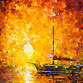 Glows Of Passion - Palette Knife Oil Painting On Canvas By Leonid Afremov by Leonid Afremov