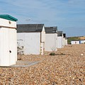 Glyne Gap Beach Huts In Sussex by David Fowler