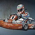 Go-kart Racing Grunge Color by Frank Ramspott