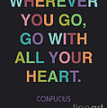 Go With All Your Heart by Cindy Greenbean
