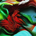 Go With The Flow Abstract by Liane Wright