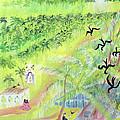 Goa, India, 1998 Oil On Paper by Sophia Elliot