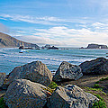 Goat Rock State Beach Near Russian River Outlet Near Jenner-ca by Ruth Hager