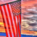 God Bless America Over Puget Sound by Tap On Photo