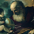 God The Father And Angel by Guercino