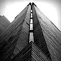 Goddard Stair Tower - Black And White by Joseph Skompski