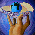 God's Little Blue Pearl Of Great Price by Pamorama Jones