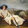 Goethe In The Roman Campagna by Johann Heinrich Wilhelm Tischbein