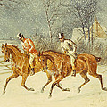 Going Out In A Snowstorm by Henry Thomas Alken