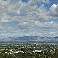 Going Places Cloudy Blue Sky Panoramic by David Zanzinger