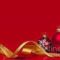 Gold And Red Christmas Decorations by Elena Elisseeva