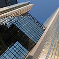 Gold Black And Blue Geometry - Royal Bank Plaza by Georgia Mizuleva