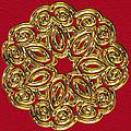 Gold Broach by Pat Follett