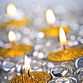 Gold Christmas Candles by Elena Elisseeva