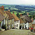 Gold Hill Shaftesbury Uk 1980s by David Davies