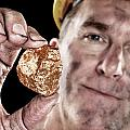 Gold Miner With Nugget by Joe Belanger